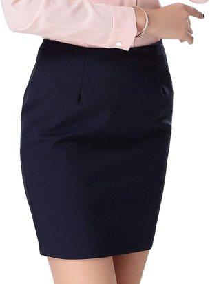 Amazon   洗える ウォシャブル タイトスカート ミニ 黒 ブラック オフィス 制服 フォーマル S~4Lサイズ (A44cm丈)   スカート  通販
