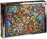 Disney Stained Art Jigsaw Puzzle[1000P] All Stars Stained Glass (DS-1000-764)
