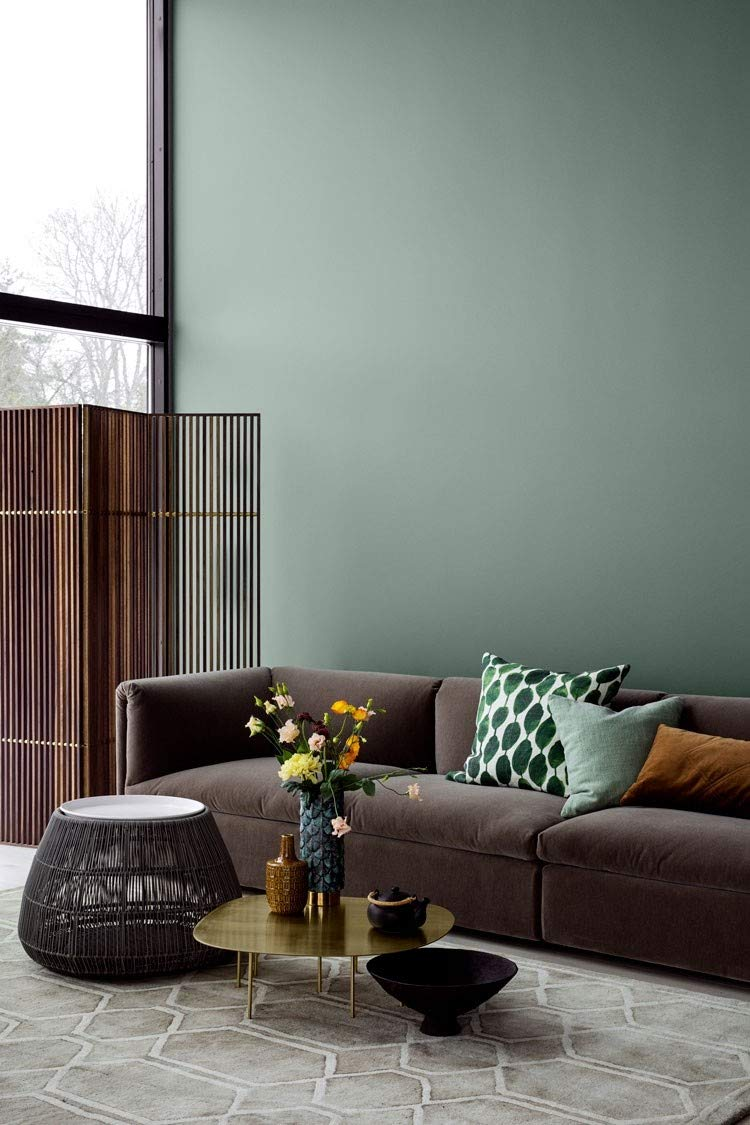 Lady Pure Color Wall Paint With Colors 6352 Evening Green Amazon Co Uk Diy Tools