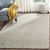 Safavieh Natura Collection Handmade Premium Wool & Cotton Area Rug, 6' x 9', Ivory/Light Grey
