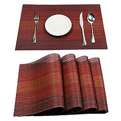 Vinyl Placemat Non-Slip Heat Resistant Kitchen Table Mats
