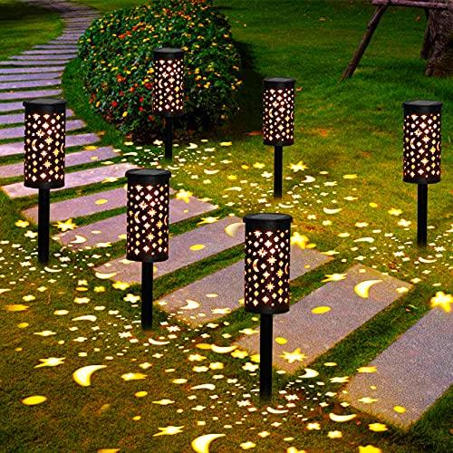 Lámparas Solares para Jardín Golwof 6 Piezas Luz Solar Exterior...