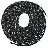 Heavy duty round boot laces shoelaces for hiking walking construction safety work boots shoes (60' (153cm), Black/White Spot)