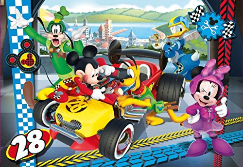 Clementoni- Mickey Roadster Racers Supercolor Puzzle, 104 Pezzi, 27984