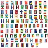 Lot de 100drapeaux du monde - Décorations de fête, couleurs assorties - 13,2x23,4cm -...