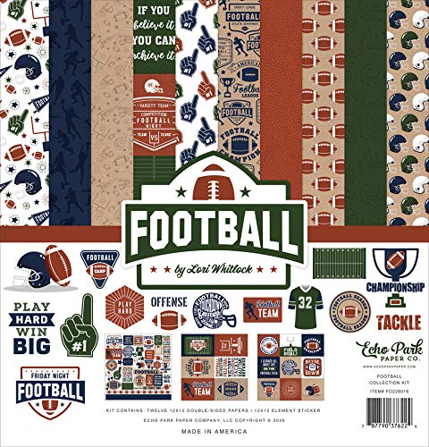 Echo Park Paper Company Football Collection Kit Paper
