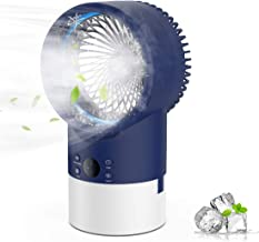 EEIEER Portable Air Conditioner Cool Mist Humidifier Fan, 4 in 1 Timing Night Light Quiet..