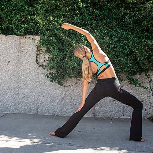 Houmous S-XXL Petite/Regular/Tall Length, Women's Yoga Bootleg Pants Inner Hidden Pocket Workout Pants(Petite-29 Inseam-Black, X-Large) 5