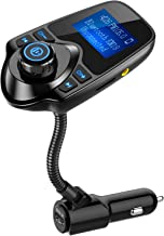 Nulaxy Bluetooth Car FM Transmitter Audio Adapter Receiver Wireless Hands Free Car Kit W..
