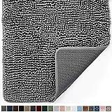 Gorilla Grip Original Indoor Durable Chenille Doormat, 60x36, Absorbent Machine Washable Inside Mats, Low-Profile Rug Doormats for Entry, Mud Room Mat, Back Door, High Traffic Areas, Gray
