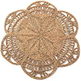 Handmade Rattan Rug | Natural Round 4 ft Indoor | Area Rug 4', Natural Fiber Rugs, Round Jute Rug, Straw Rug, Round Boho Rug, Woven Rug, Round Rugs | Including Circular and Rectangular Shape