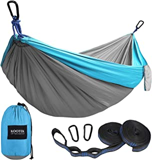 Kootek Camping Hammock Double & Single Portable Hammocks with 2 Tree Straps,..