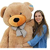 "Joyfay 78"" Giant Teddy Bear Brown Huge 6.5 feet Stuffed Teddy Bear Soft Toy Valentine's Big Gift"