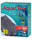 Aquaclear Activated Carbon Insert, 50-Gallon Aquariums, 3-Pack
