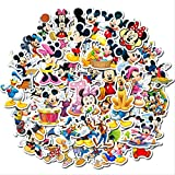 BVCXZ Pegatina de Mickey Mouse Mickey sin duplicar Pegatina para niños Maleta Guitarra Personaje Doodle Pegatinas 50 Piezas