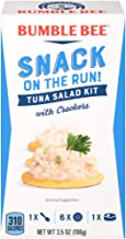 BUMBLE BEE Snack on the Run Tuna Salad with Crackers, Canned Tuna Fish, High Protein..