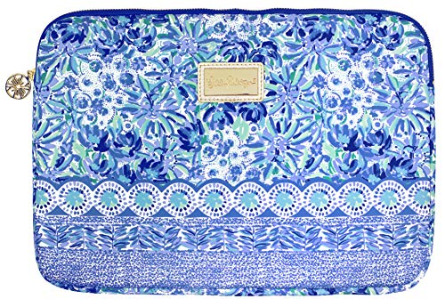 Lilly Pulitzer Soft Padded Zip Close Tech Sleeve, Laptop Case Fits up to 13 Inch Computer, High Manetenance
