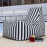 Jaxx Juniper Outdoor Bean Bag Patio Chair, Navy Stripes