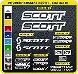 Pimastickerslab - Cod. 0112 - Lot de 18 autocollants pour vélo Scott - Coloris...