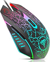 BENGOO Gaming Mouse Wired, USB Optical Computer Mice with RGB Backlit, 4 Adjustable DPI..