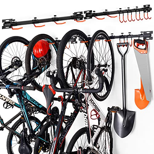 Ikkle Rastrelliera Portabiciclette,Porta Bici a Parete,Rastrelliera Portabiciclette Parcheggio per 6 Biciclette,Porta Biciclette,Parcheggio Portabiciclette,Parcheggio Biciclette Rastrelliera2-Pack
