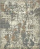 Unique Loom 3138723 Vintage Distressed Traditional Area Rug, 8' x 10', Gray/Beige