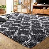 LOCHAS Luxury Velvet Shag Area Rug Modern Indoor Plush Fluffy Rugs, Extra Soft and Comfy Carpet,...