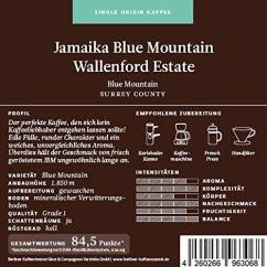 Berliner Kaffeerösterei Jamaika Blue Mountain Wallenford Estate