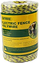 Farmily Portable Electric Fence Polywire, 656 Feet 200 Meter, 6 Conductors, Yellow and..