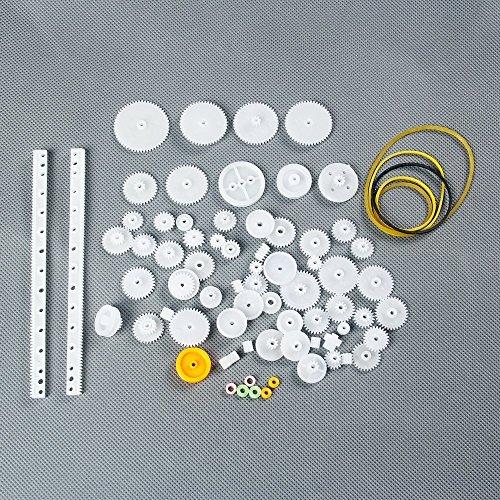 Laomao Juego de 75 unidades de ruedas dentadas de engranajes
