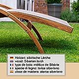 Ampel 24 Relax Liegestuhl Tropica Relaxliege mit Armlehnen Gartenmöbel aus vorbehandeltes Holz - 3