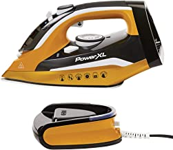 PowerXL Cordless Iron and Steamer, 1400W Iron with Ceramic Soleplate, Vertical Steam,..