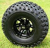 10' BULLDOG Black Wheels and 22x11-10 All Terrain Golf Cart Tires -...