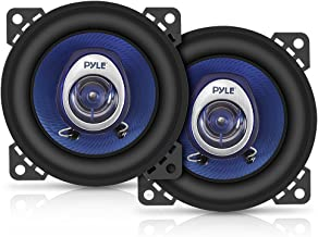 """4"""" Car Sound Speaker (Pair) – Upgraded Blue Poly Injection Cone 2-Way 180 Watt.."""