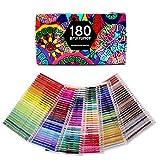 180 Crayons aquarelle pour dessin Art Crayons de coloriage pour esquisse,...
