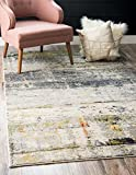 Unique Loom Chromatic Collection Modern Abstract Rustic Gray Area Rug (5' 0 x 8' 0)
