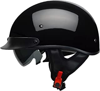 Vega Helmets Warrior Motorcycle Half Helmet with Sunshield for Men & Women,..