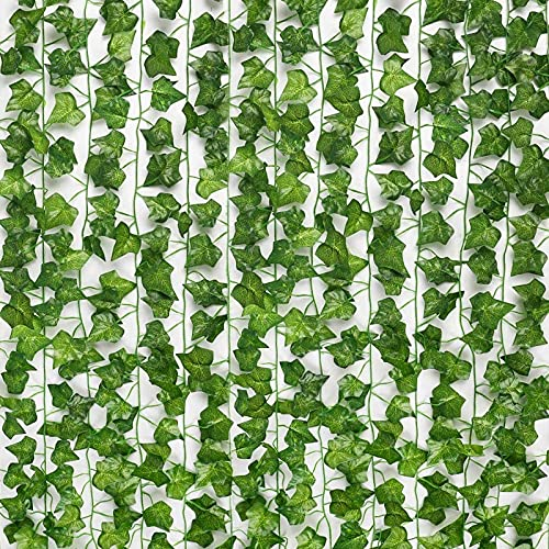 JPSOR 24pcs 158 Feet Fake Ivy Leaves Fake Vines Artificial Ivy,...