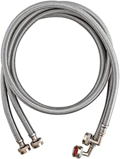 Eastman 41065 Washing Machine Hoses, 5 Ft Pair, Silver