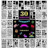 Fansteck 30 pcs Pochoir Bullet Journal Pochoir à Dessin en Plus de 1000...