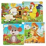 LEADSTAR Puzzle en Bois Jouets Les Enfants, Animaux Puzzle en Bois 20 Pièces...