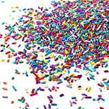 Unicorn Rainbow Jimmies| Yellow Red White blue Purple Summer Colorful Candy Sprinkles Mix For Baking Edible Cake Decorations Cupcake Toppers Cookie Decorating Ice Cream Toppings, 2OZ