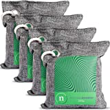 Activated Charcoal Bags - Odor Absorber Made of 100% Bamboo and Linen with Dehumidifier for Moisture Control that is Safe for Air Purifier & Deodorizers and comes in 4 200g Pouches Per Pack