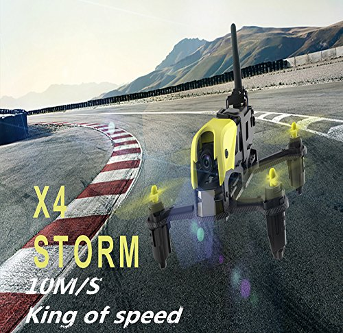 Hubsan H122D X4 Storm Racer Droni Quadricotteri 720 Fotocamera 360 Filps (H122D Standard)