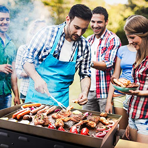 Product Image 5: TACKLIFE Portable Propane Gas Grill, 23 in Tabletop Griddle with 3 Burners, Stainless Steel Ideal for Outdoor Cooking, Camping, Tailgating or Picnicking