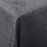 WOLTU Nappe de Table rectangulaire Aspect Lin Protection Décoration de Table...