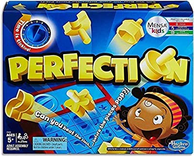 Time is ticking -- beat the clock before the pieces pop Play solo or with friends Store game pieces inside the game unit Includes 25 geometric shapes, game unit with timer, pop-up tray, and storage compartment, and instructions.