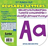 Eureka Back to School Purple Punch Out Letters for Classroom Decoration, 217pc, 4'' H