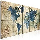 murando Impression sur Toile intissee Carte du Monde 200x80 cm Tableau 5...