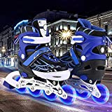 Hiriyt Rollers Patins à roulettes à Taille Réglable pour...